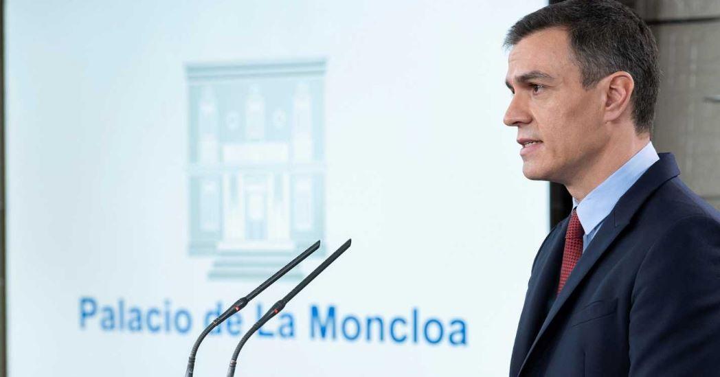 """Sánchez declara el estado de alarma para afrontar con la """"máxima agilidad y contundencia"""" el Coronavirus."""