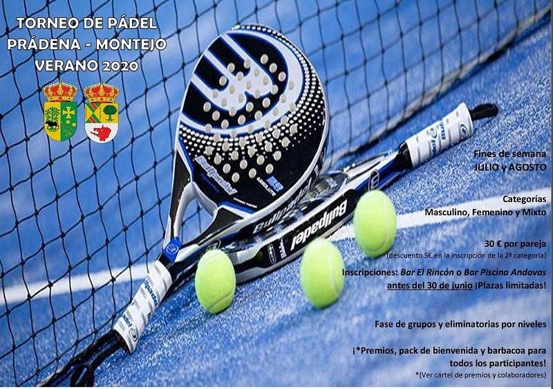 Torneo de pádel prádena Montejo Verano 2020 🎾