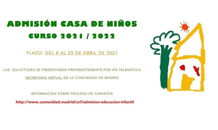 Admisión Casa de Niños Curso 2021-2020